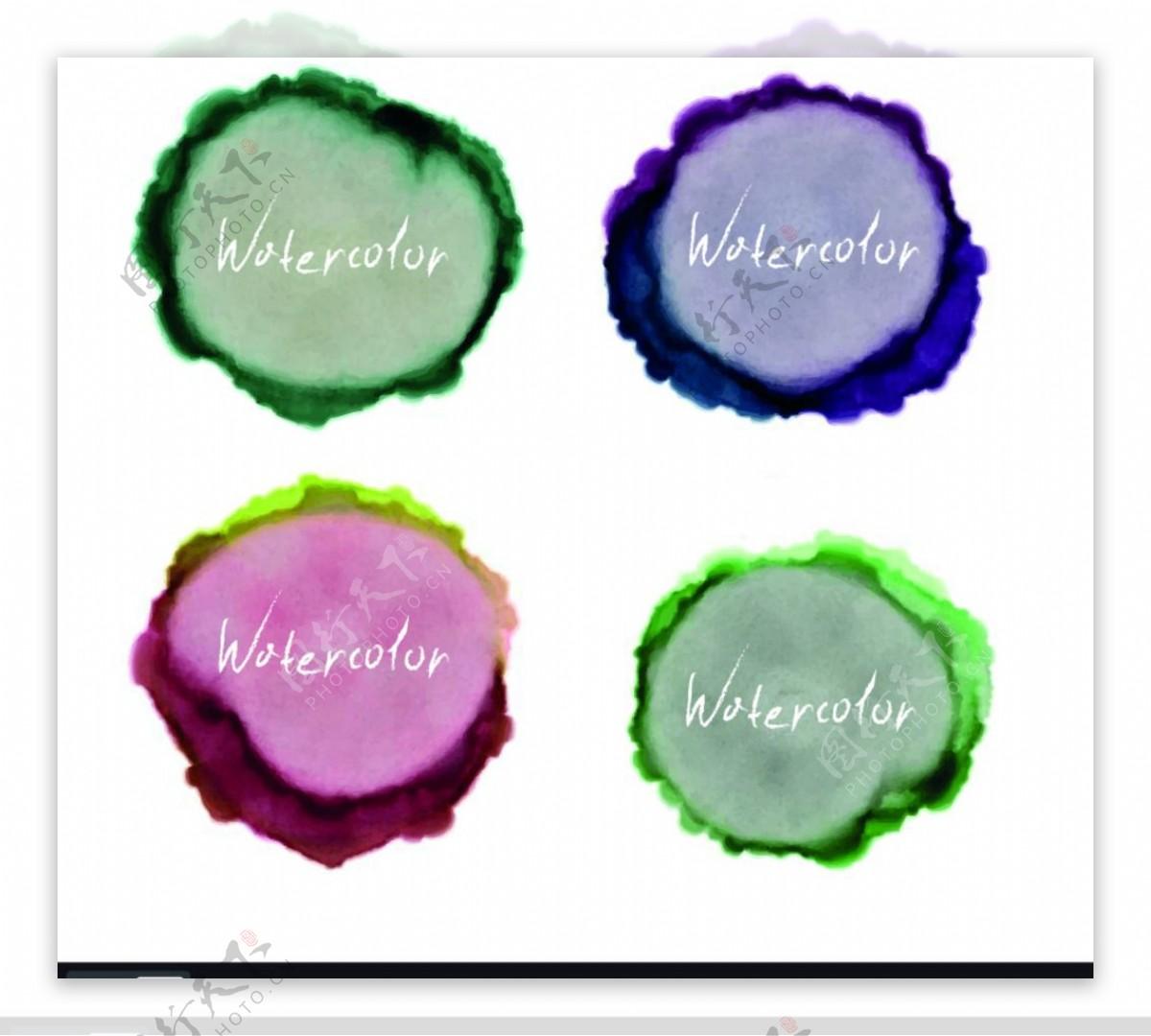 彩色水墨图片